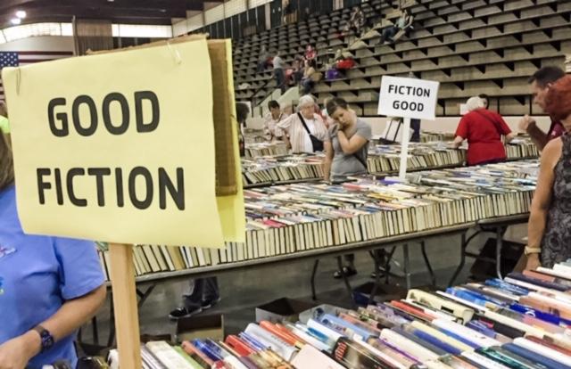 The author's local used book fair.